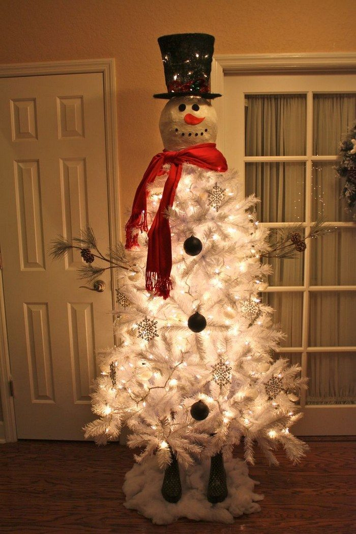 Make a snowman out of a christmas tree! | Craft projects for every ...