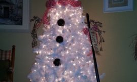 Make a snowman out of a christmas tree!