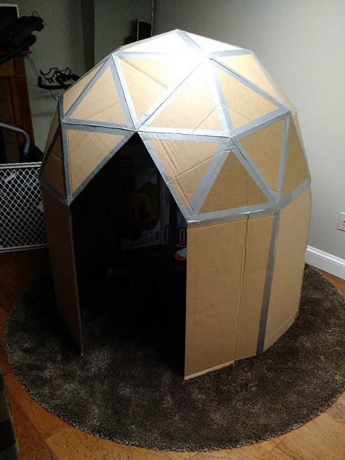 How to make a cardboard play dome | Craft projects for every fan!