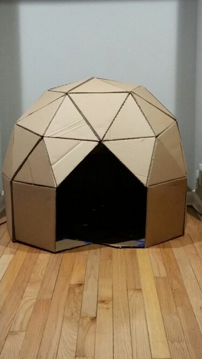 How to make a cardboard play dome | Craft projects for ...