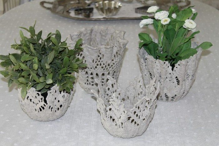 5 Things That Are Made Of Cement : How to make a cement lace bowl craft projects for every fan