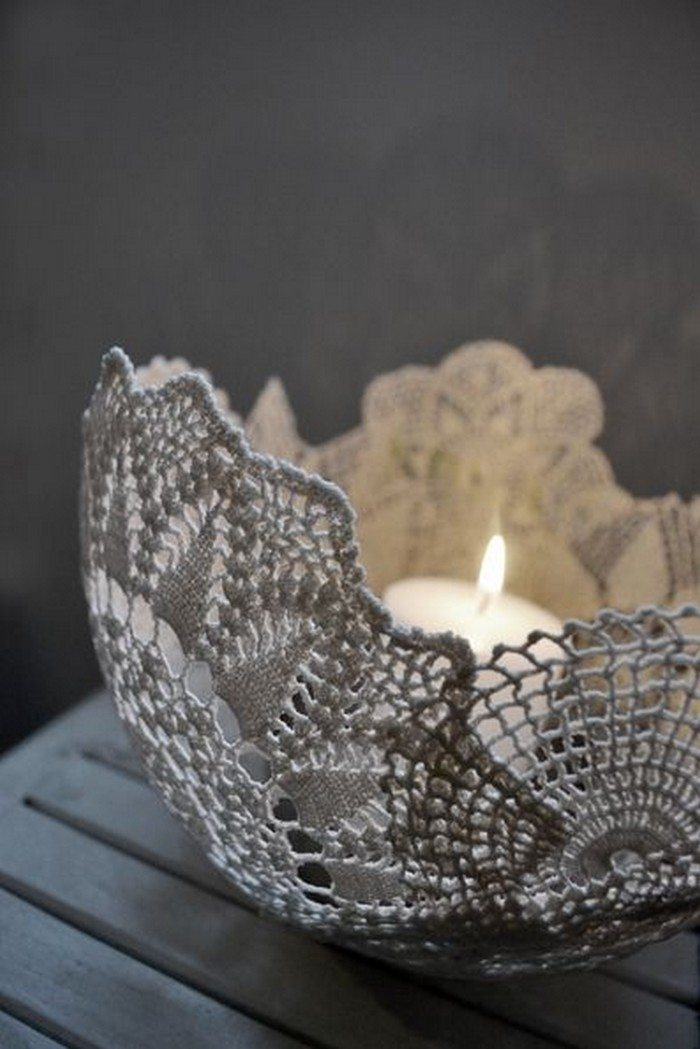 How To Make A Cement Lace Bowl Craft Projects For Every Fan