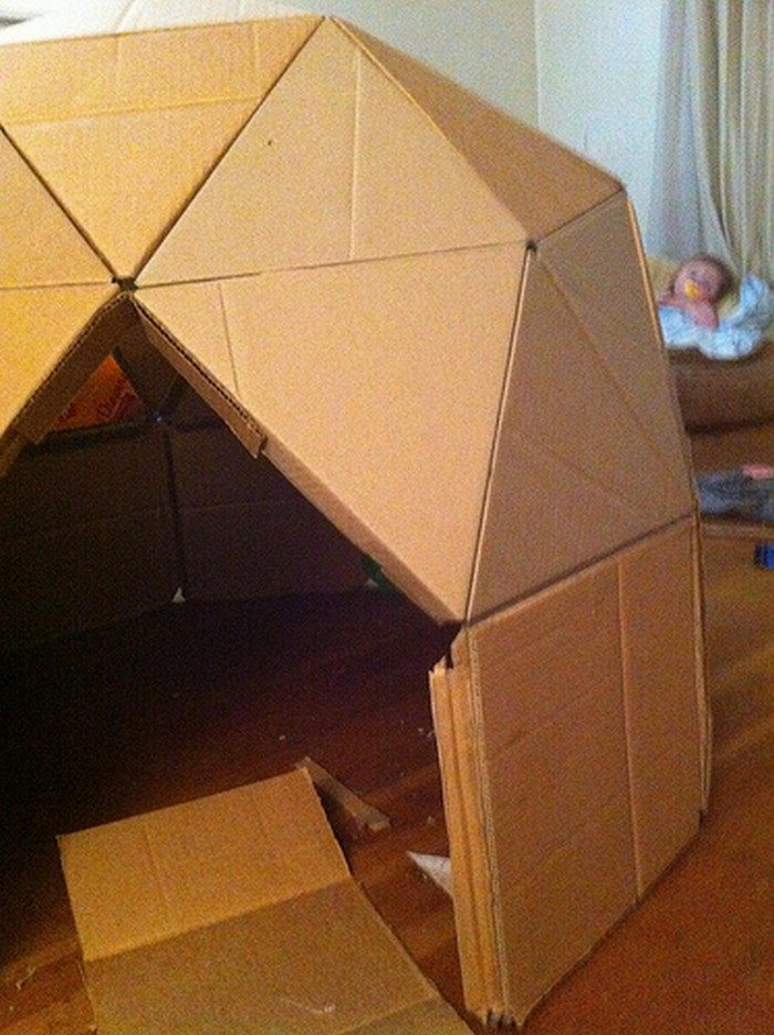 How to make a cardboard play dome craft projects for for Cardboard for projects