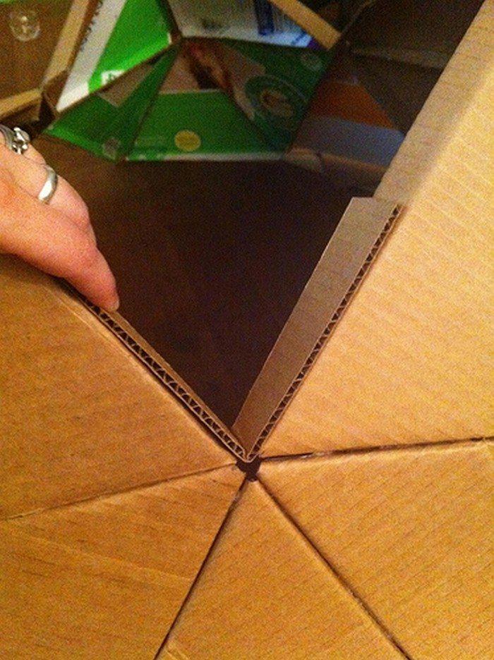 DIY Kids Cardboard Playdome