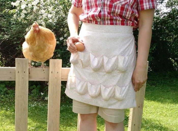 How To Make A Custom Egg Gathering Apron Craft Projects