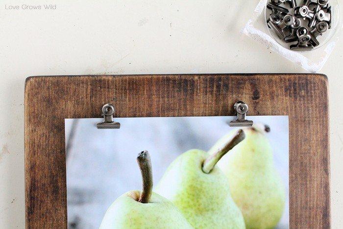 DIY Timber Photo Clipboard