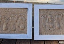 Sand Footprint Keepsakes