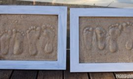 DIY Sand Footprint Keepsakes