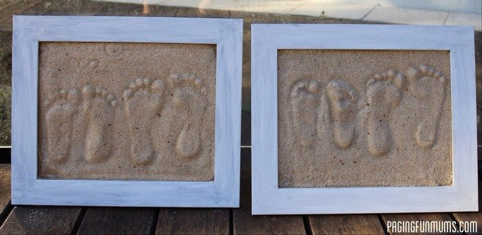 DIY Sand Footprint Keepsakes