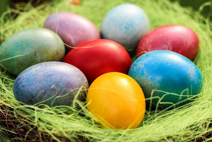 Nothing can get easier than dyed eggs!