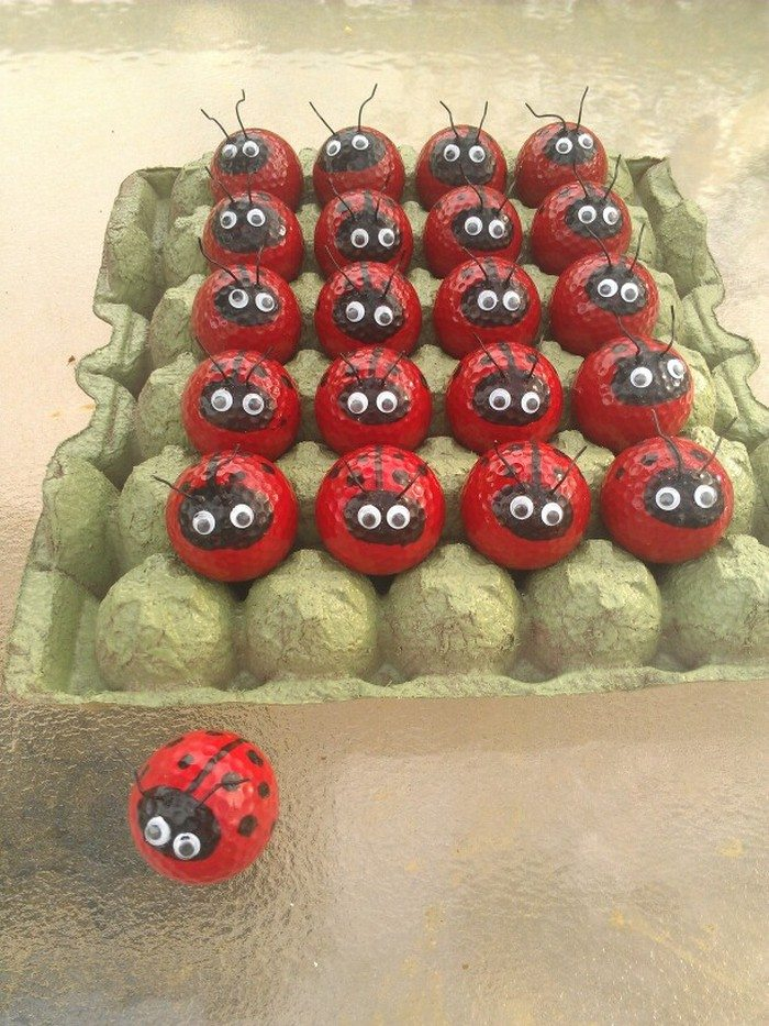 Make Your Own Golf Ball Ladybugs Craft Projects For