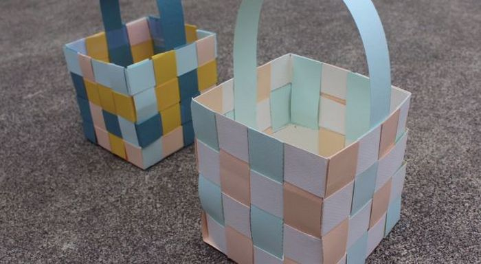 Basket Weaving Using Construction Paper : Fun and easy easter crafts for children craft projects