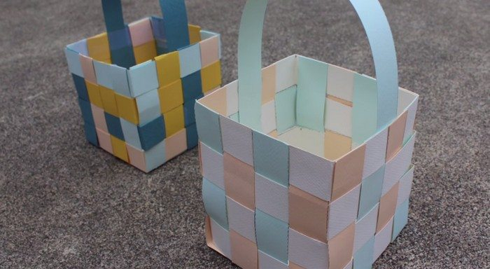 How To Make Woven Paper Easter Baskets Craft Projects For Every Fan