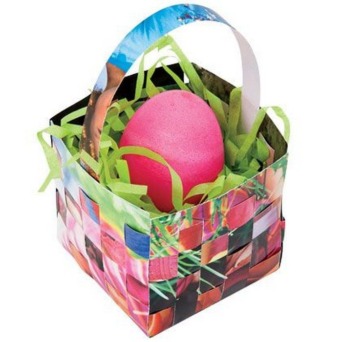 How to make woven paper easter baskets craft projects - Easter basket craft ideas ...