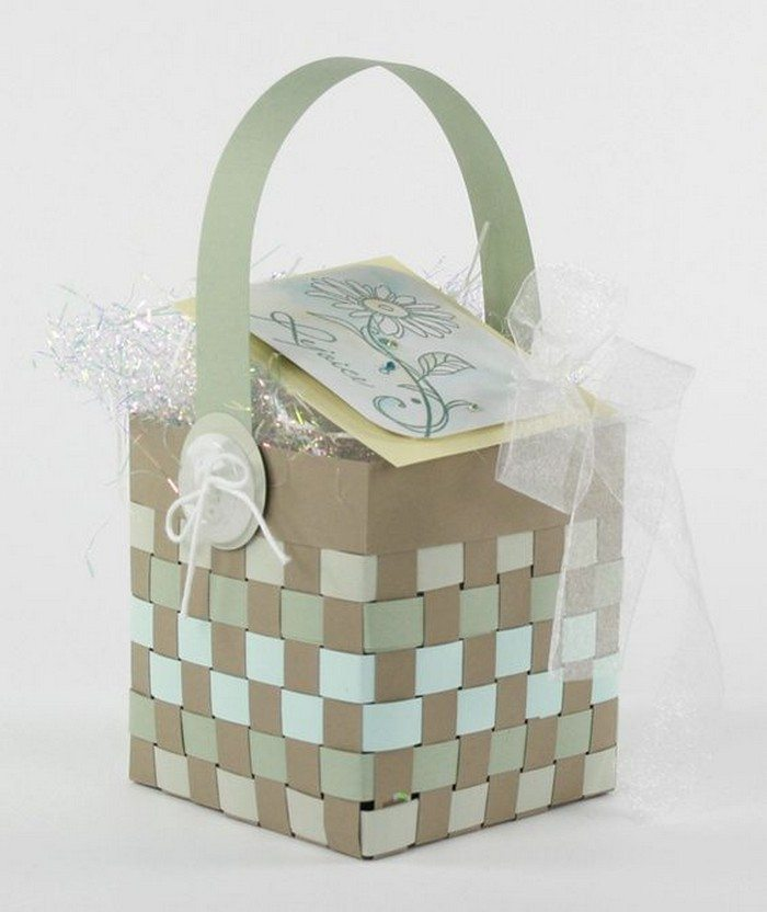 How To Make A Woven Easter Basket : How to make woven paper easter baskets craft projects