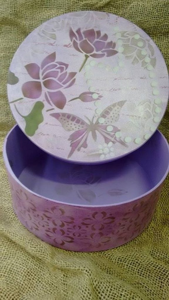 Paint Decorate Box with Stencil