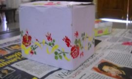 Decorate plain and boring boxes with stencil!