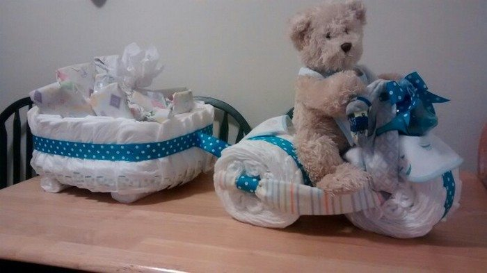 Tricycle Diaper Cake With Wagon