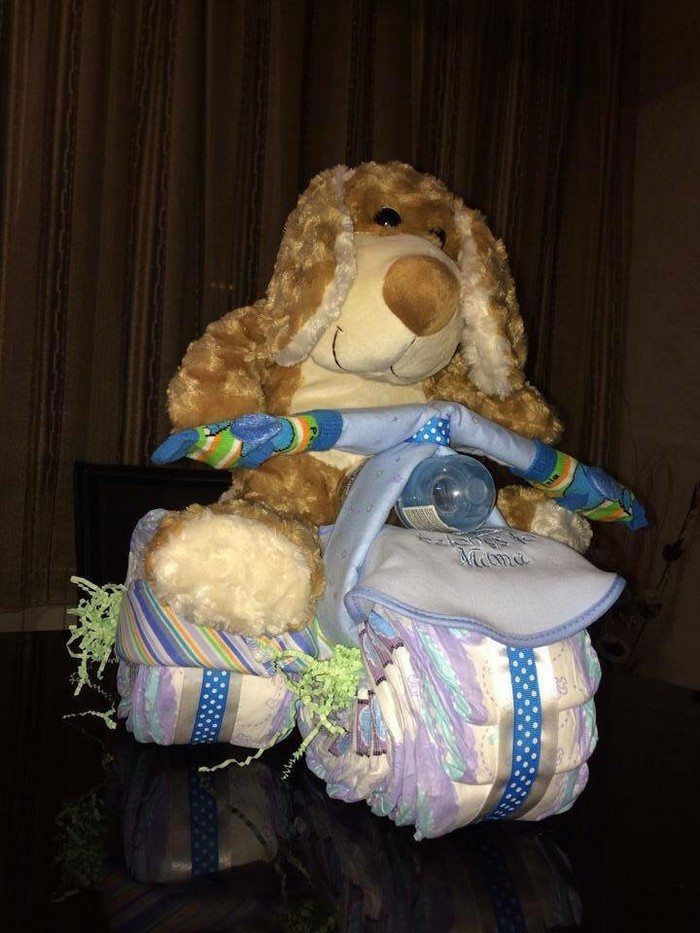 How Do You Make A Diaper Cake With Receiving Blankets