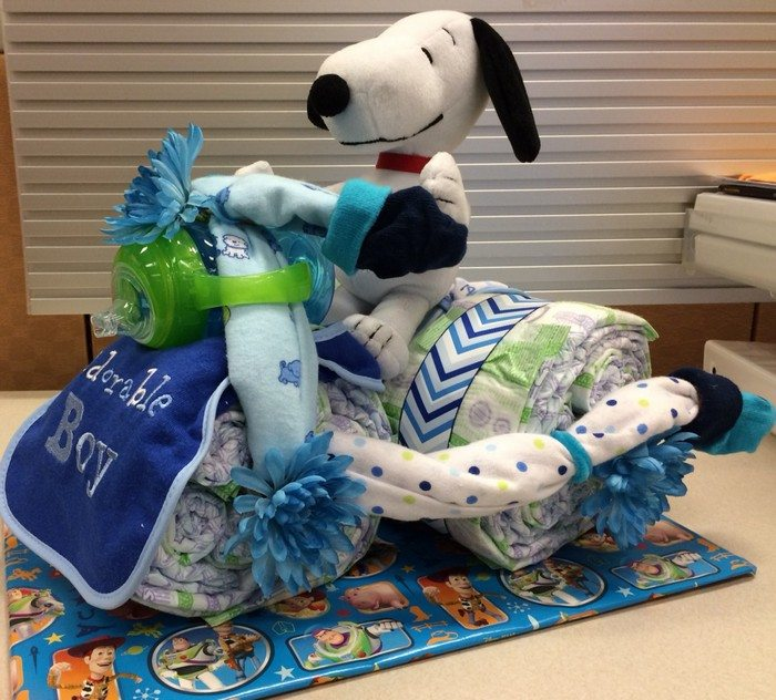 How To Make A Tricycle Diaper Cake Craft Projects For