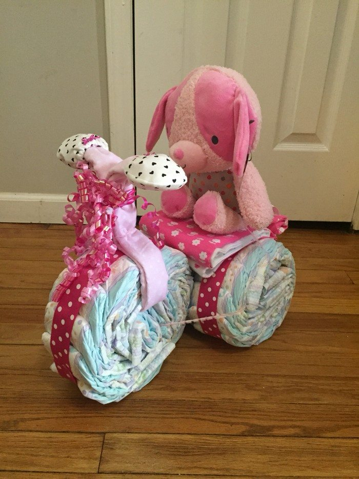 What Do I Need To Make A Tricycle Diaper Cake