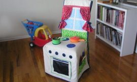 How to make a play kitchen slipcover
