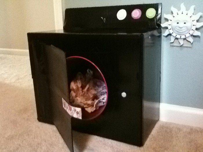 Make A Cardboard Washing Machine For Kids Craft