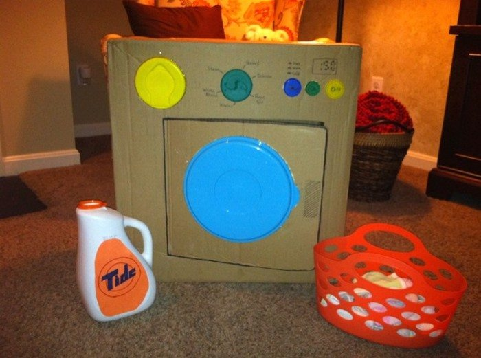 Cardboard Washing Machine for Kids