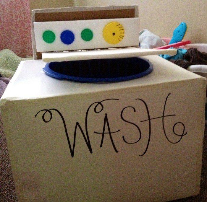 Cardboard Washing Machine for Kids