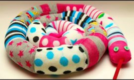 Make a sock snake out of your mismatched socks!