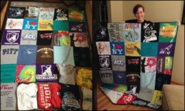Turn your old favourite shirts into a T-shirt quilt!