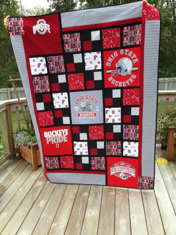 """Dad's Quilt"" - Pieced and quilted by Susan Hoffman"