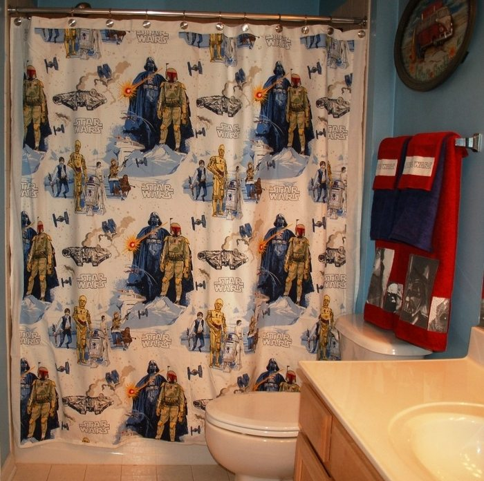 Create Your Own Shower Curtain Using A Vintage Bed Sheet Craft