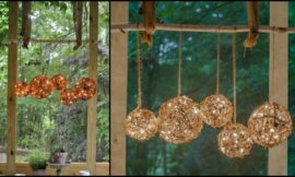 Make grapevine balls for a lovely home decoration!
