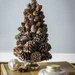 Christmas tree made from pine cones