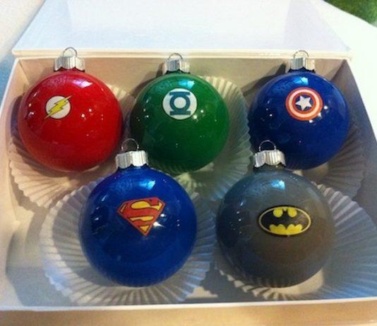 Superhero Christmas Ornaments