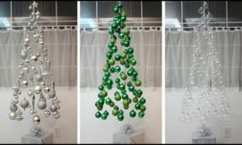 How to make a suspended ornament Christmas tree!
