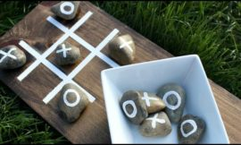 Make your own outdoor Tic-Tac-Toe game