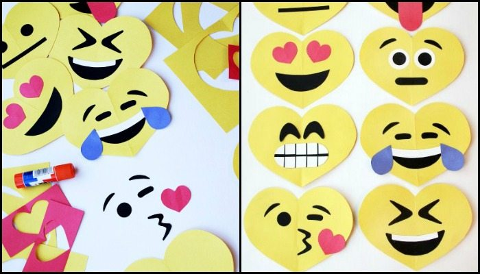 Easy Valentines Emoji Craft for Kids!