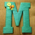 Ombre Yarn Monogram Letters