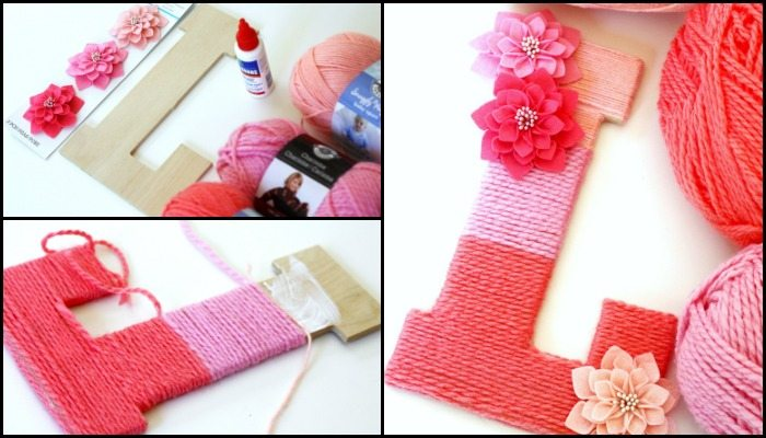 Make beautiful ombre yarn monogram letters!