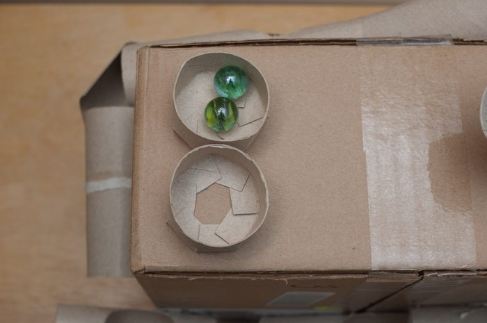 Build A Marble Run From Recycled Cardboard Craft
