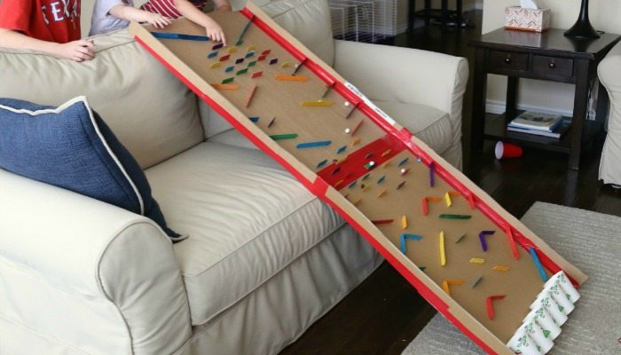 Build a marble run from recycled cardboard!