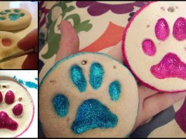 Puppy Paw Print Salt Dough Ornaments