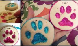 Adorable Puppy Paw Print Salt Dough Ornaments