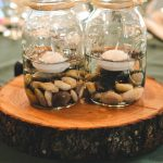 Floating Candle Centerpiece with Pebbles
