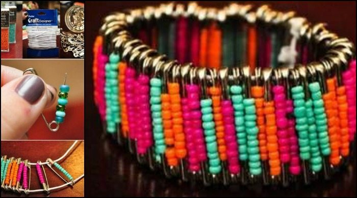 Make your own beautiful safety pin bracelets!