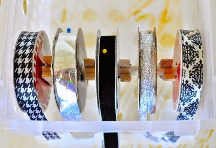 DIY Ribbon Dispenser