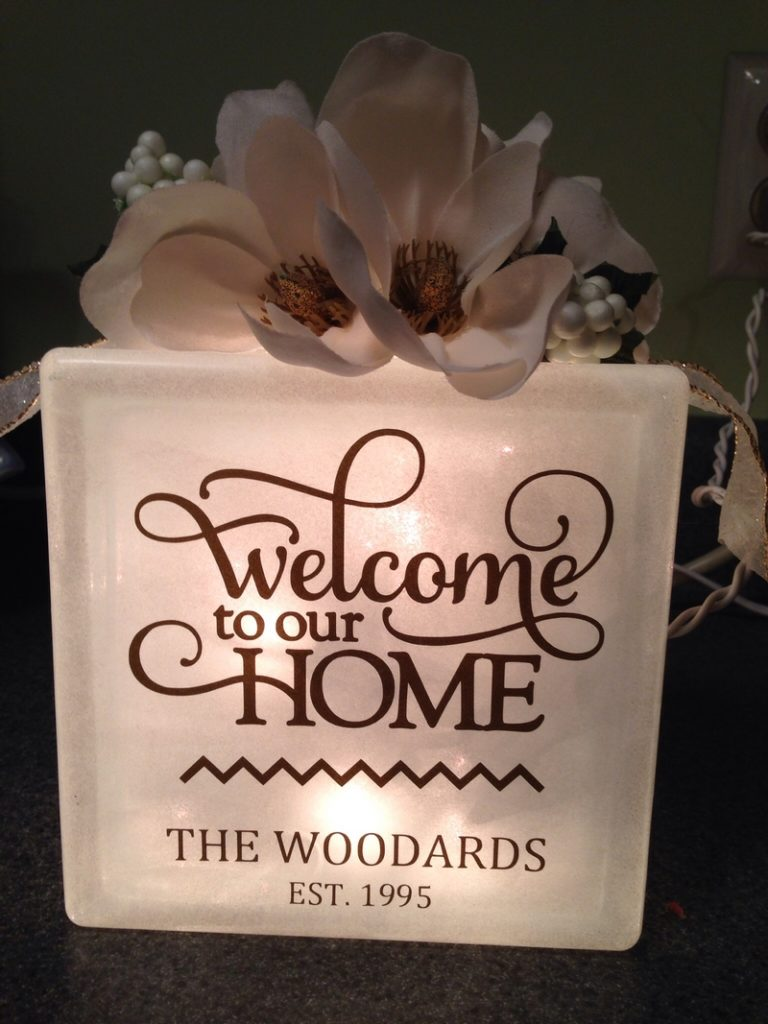 """Welcome to our Home"" Sign"