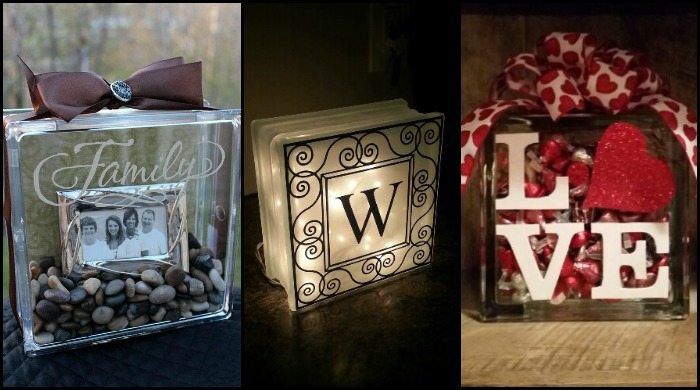 glass block ideas - Glass Block Christmas Decorations
